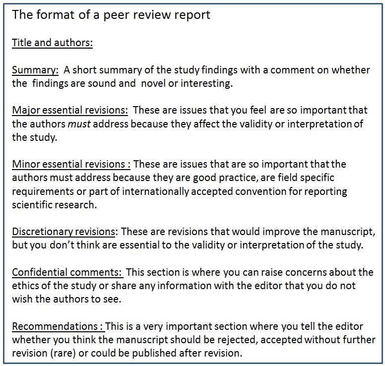 a beginners guide to peer review part two