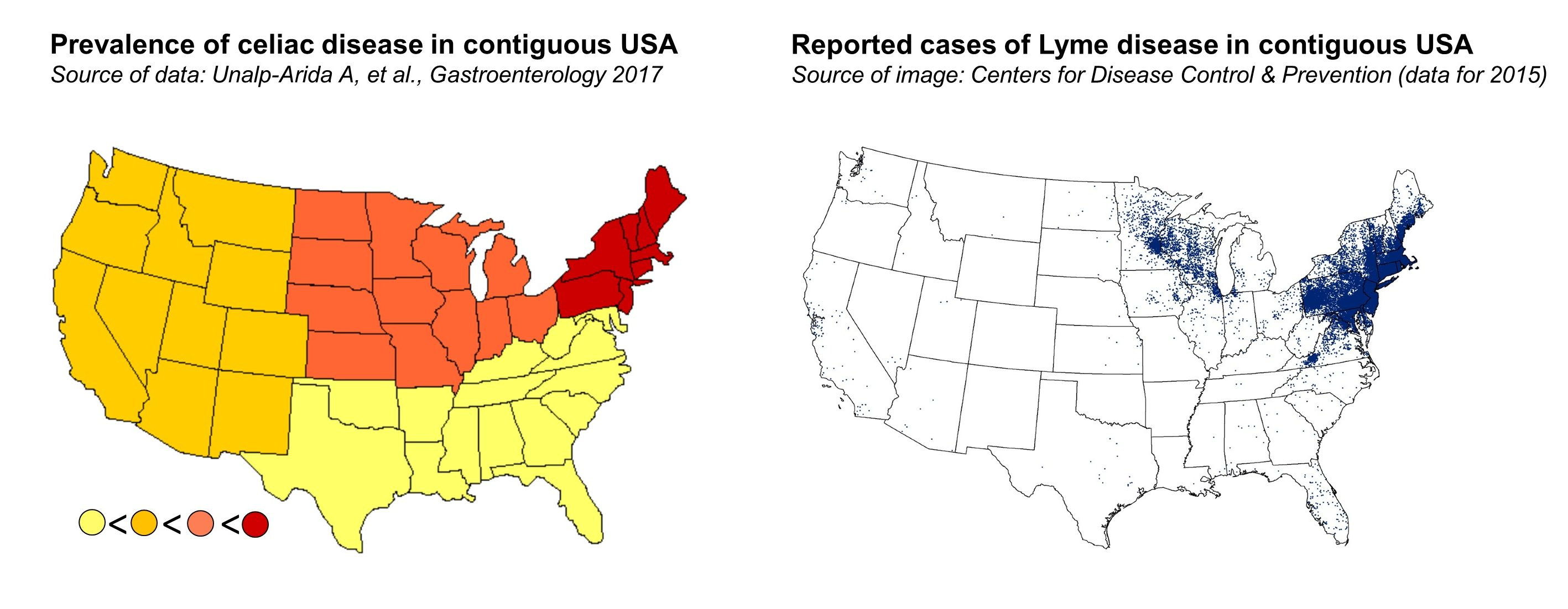 Can Lyme Disease Trigger Celiac Disease On Medicine - Map of lyme disease in us