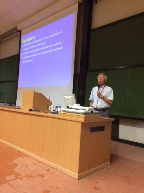 Christian Sterken at EASE meeting