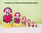 19. Sample set of Matroyoshka (Russian) dolls, representing emotional change in children