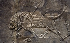 Assyrian relief from Nineveh. Ealdgyth, Wikipedia, CC 3.0